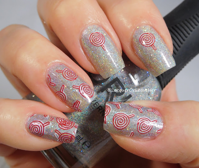 Nicole Diary ND-L001 over Orly Mirrorball