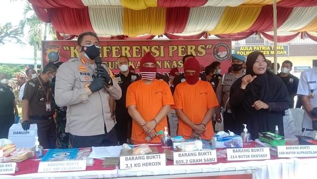 Selundupkan Heroin dari Malaysia Lewat Aceh, ANS dan MAN Ditangkap Polisi