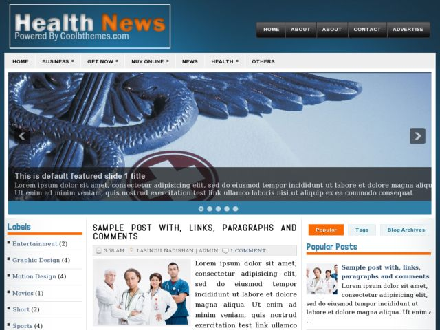 Health News Blogger Template