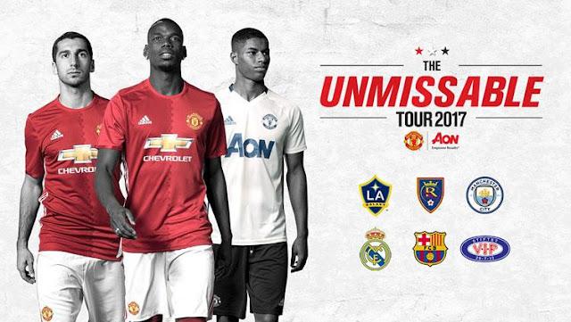 Jadwal Tur Pramusim Manchester United 2017 di Amerika Serikat