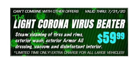 Light corona virus car wash coupon $59.99