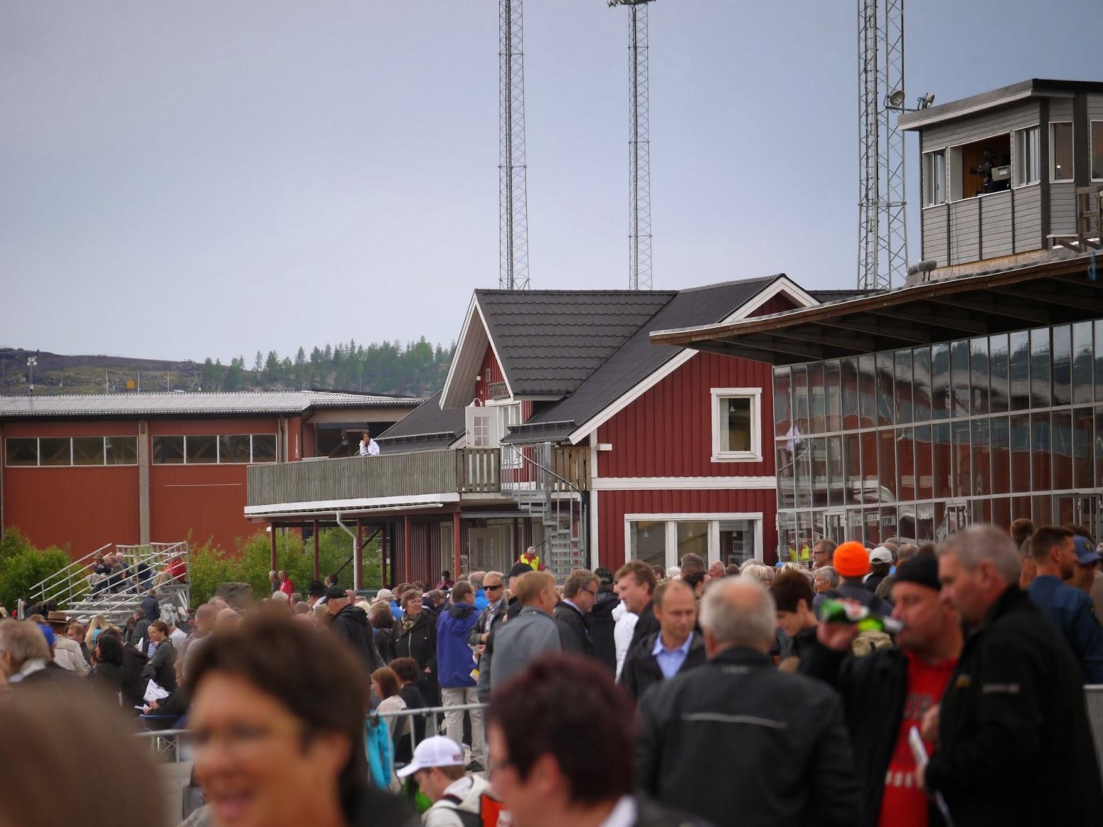 Svanå trädgård: järnvägsstationen i brännberg.