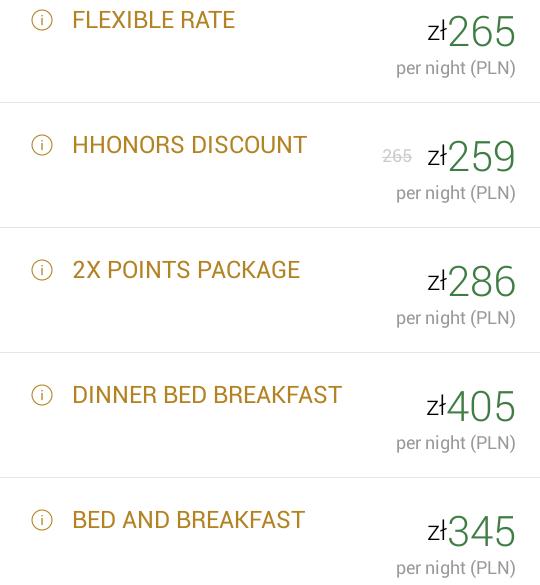 Hilton Garden Inn Rzeszow - cena hotelu
