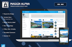 Masign Alpha v2 Template Blogger Responsive