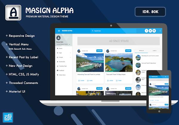 Masign Alpha v2 Template Blogger Responsive