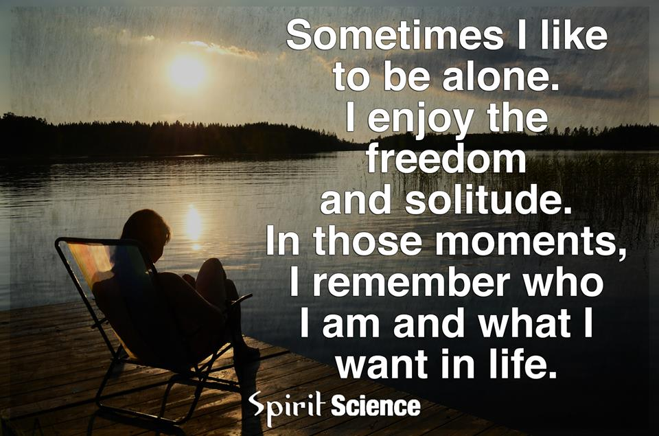 sometimes i like to be alone  i enjoy the freedom and solitude  in those moments