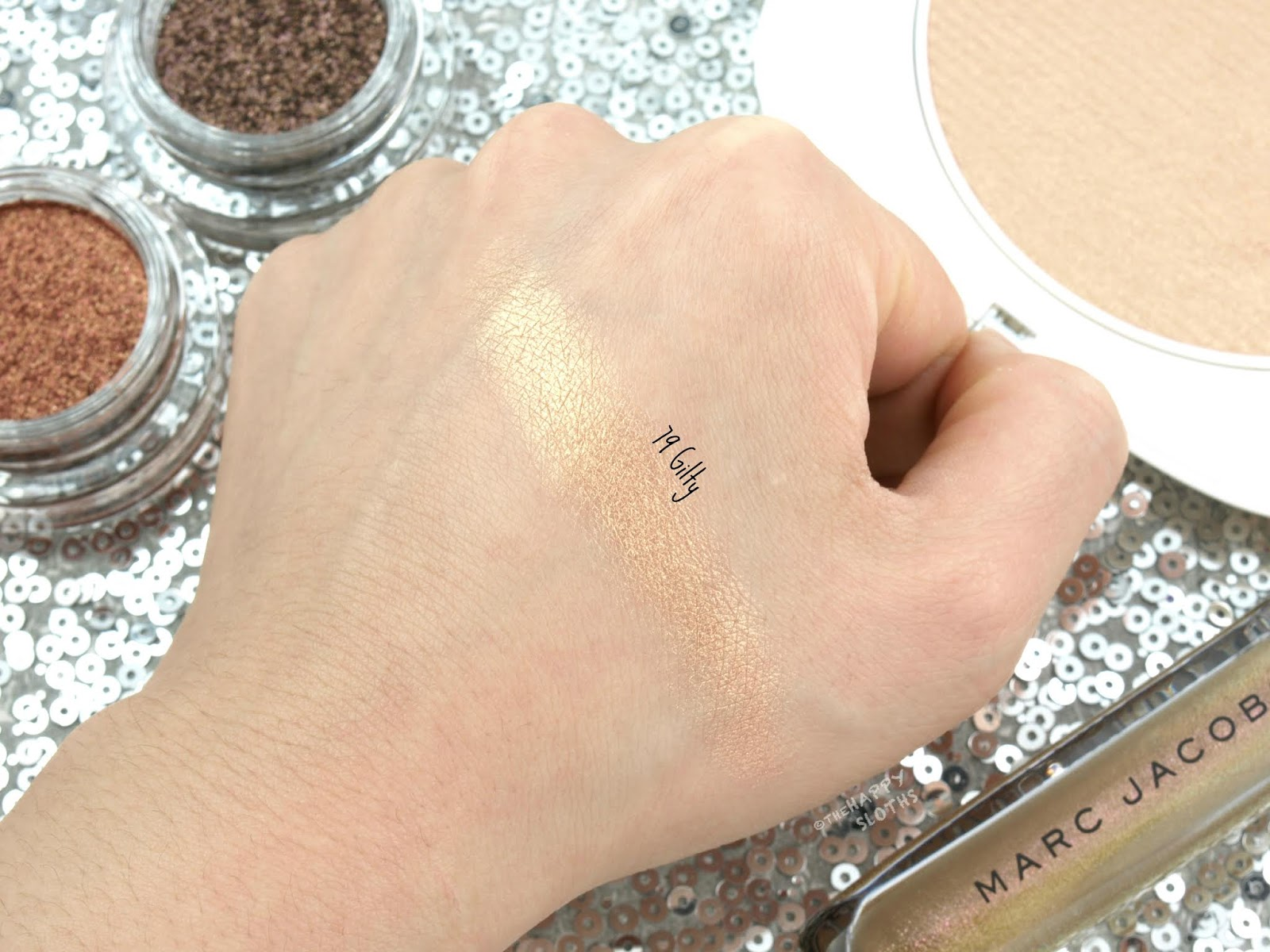 "Marc Jacobs | Holiday 2018 O!Mega Glaze All-Over Foil Luminizer in ""79 Gilty"": Review and Swatches"