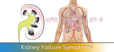 किड़नी फेल संकेत Kidney Failure Symptoms in Hindi
