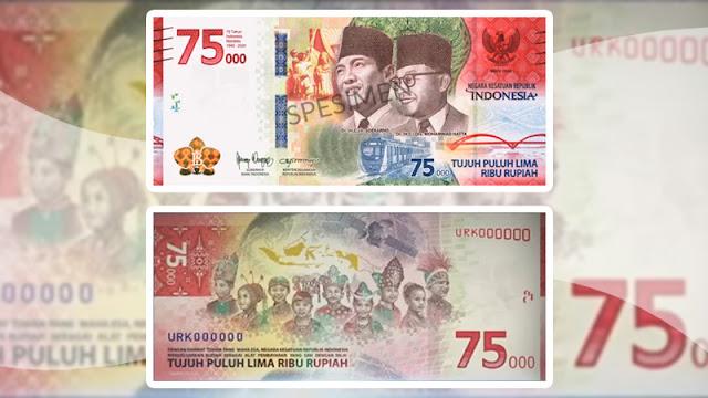 Gambar Uang Baru 75 ribu (75000) rupiah - informatif.id