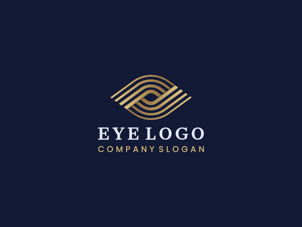 Free eye logo on navy blue background
