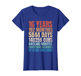 16 Years Old 16th Birthday Vintage Retro T Shirt