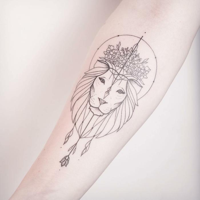 lion-tatouage féminin-3