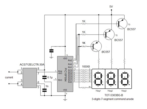 hobby in electronics  3 digits digital ammeter using