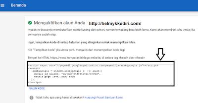 Cara mendaftarkan blog kegoogle adsense