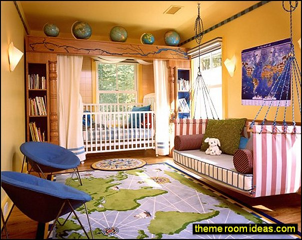 travel theme decorating ideas - global decor - world travel decorating kids rooms travel theme