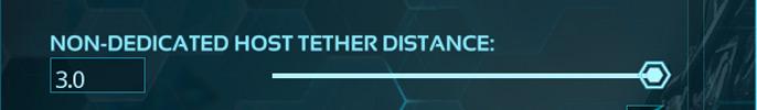Quando você avistar (non-dedicated host tether distance) você irá se deparar com um valor aleatório, como mostrado