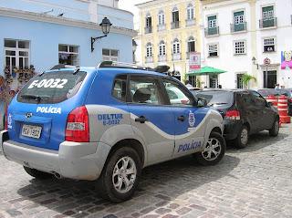 Policia turística, Salvador, Brasil, La vuelta al mundo de Asun y Ricardo, round the world, mundoporlibre.com