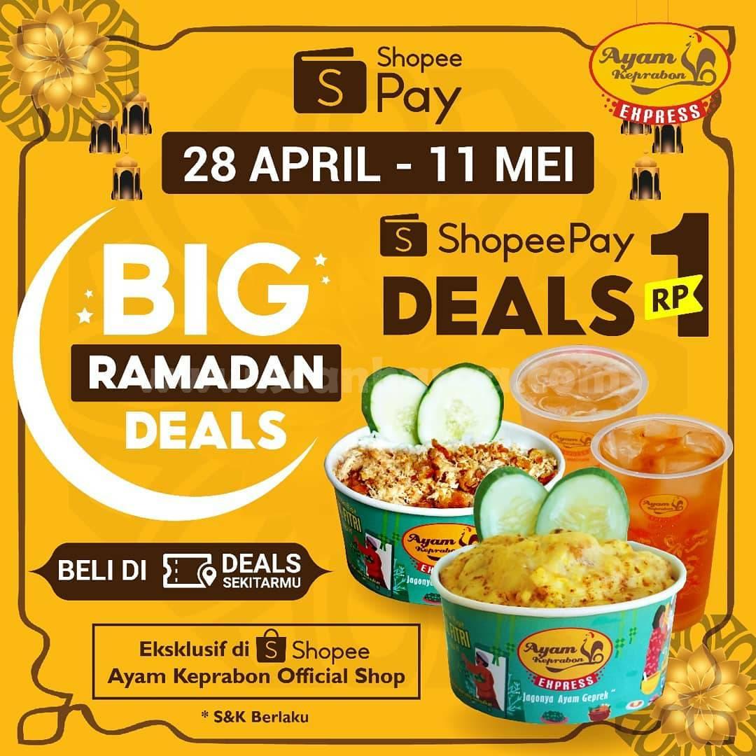 Promo Ayam Keprabon Express – Beli Voucher Cashback ShopeePay cuma Rp 1,-
