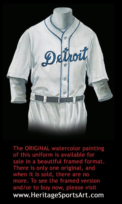best service da7f0 393f2 Detroit Tigers Uniform and Team History | Heritage Uniforms ...