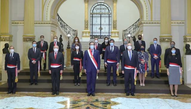 Nuevo Gabinete Ministerial: conoce aquí los integrantes del equipo que preside Pedro Cateriano