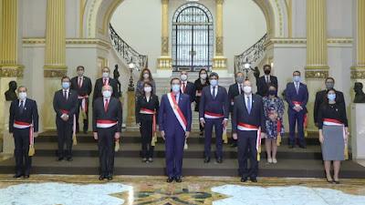 Conoce los integrantes del nuevo Gabinete Ministerial presidido por Pedro Cateriano