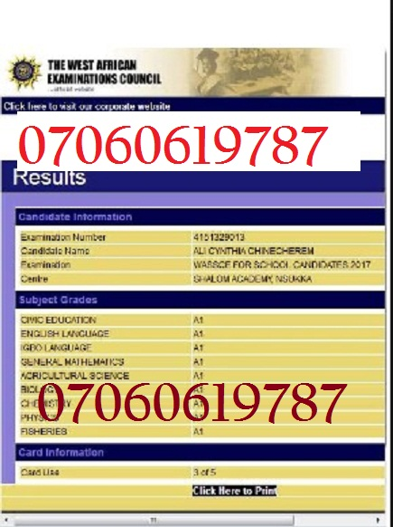 Waec Result Upgrading Official website to Upgrade