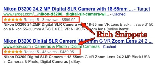 rich snippets example