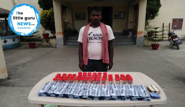सीमावर्ती क्षेत्र से जोशवर्धक दवाईयों के साथ एक युवक हिरासत में