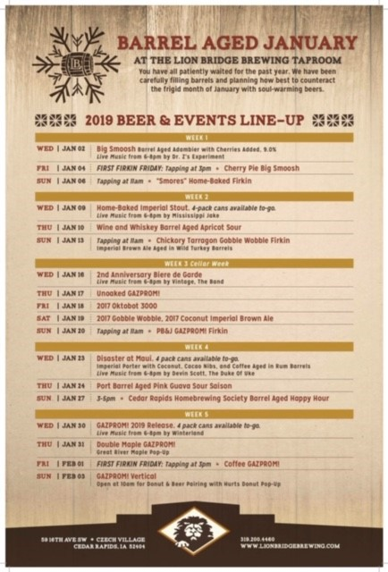 Lion Bridge Releases the Full Schedule for Annual Barrel
