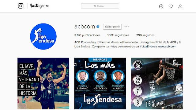 La ACB alcanza los 100.000 seguidores en Instagram