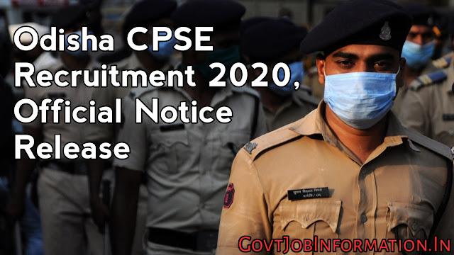 Odisha CPSE Recruitment 2020: Apply Online For 104 Posts ( SI, Station Officer, Asst. Jailor)