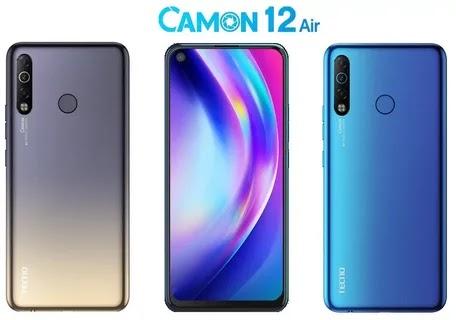 سعر وجدول مواصفات Tecno Camon 12 Air ارخص هاتف بثقب في الشاشة ضمن الفئة الإقتصادية