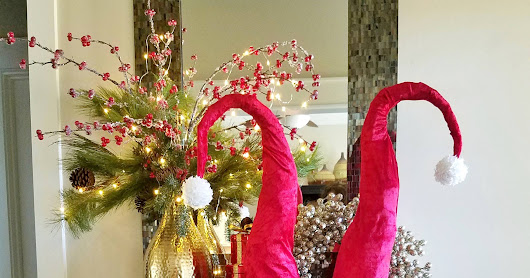 Santa Hat Decor DIY Tall Whimsical Santa Hats