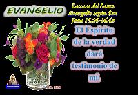 Resultado de imagen para EN aquel tiempo, dijo Jesús a sus discípulos: «Cuando venga el Paráclito, que os enviaré desde el Padre,