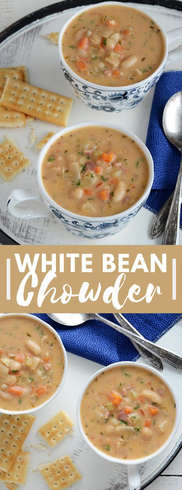 White Bean Chowder #vegetarian #soup