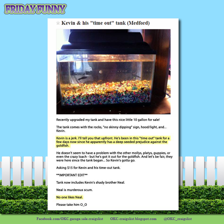 FUNNY CRAIGSLIST ADS: Naughty Fish and His 'Time Out Tank