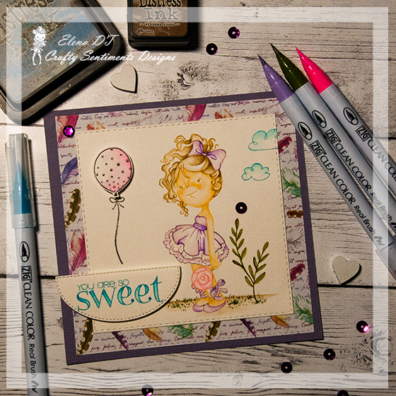 Just for fun rubber stamp - Crafty sentiments design