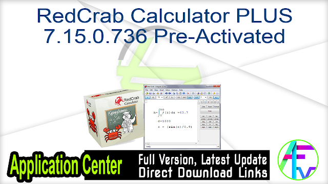 RedCrab Calculator PLUS 7.15.0.736 Pre-Activated