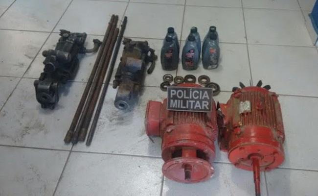Policia prende dois homens por roubo e receptação em Carnaiba