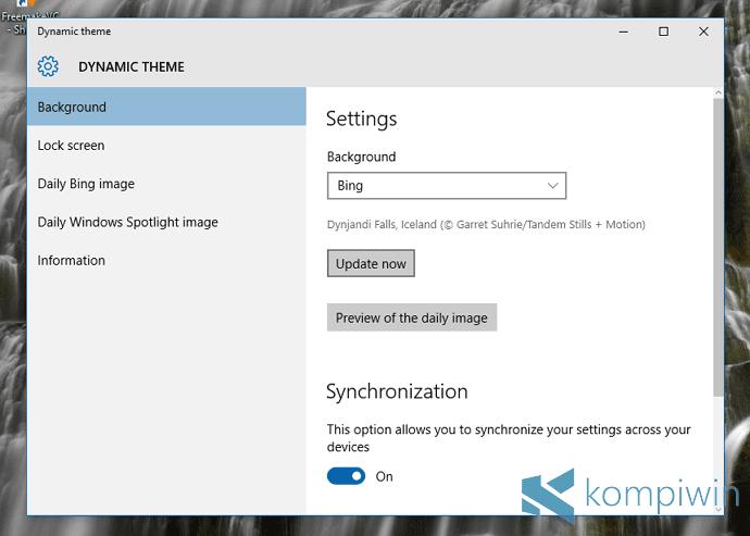 Mau Gambar Desktop & Lock Screen Jadi Lebih Keren? Gunakan Dynamic Theme! 1