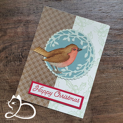 Stampin'Up!®, Happy Holly-Days, No Line Watercoloring, Diana's Cards Cats and More, DonderdagLive