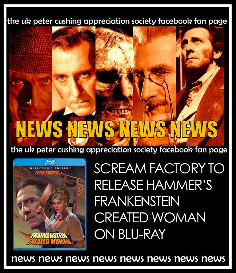 NEWS! ANOTHER SCREAM FACTORY BLU RAY RELEASE
