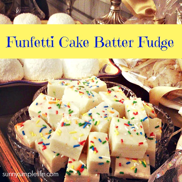 basic white fudge recipe, funfetti cake