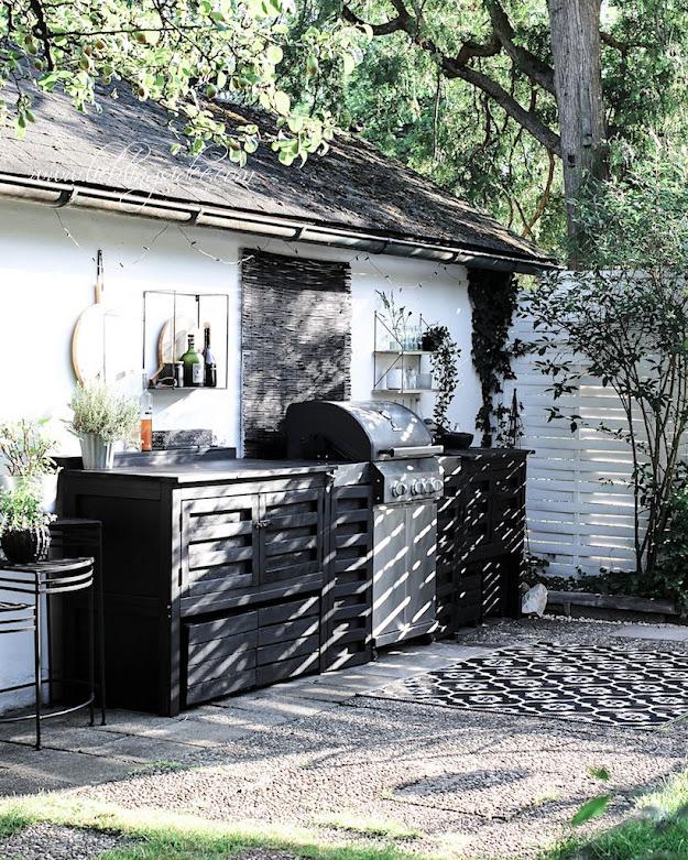 Garten Outdoorküche Aussenküche Grill einbauen DIY selbst gebaut Lieblingsidee