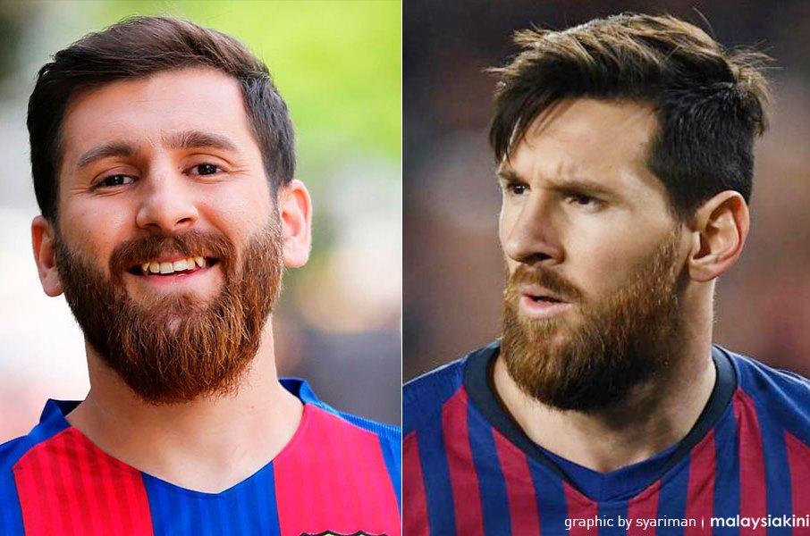 Wajah Mirip Messi