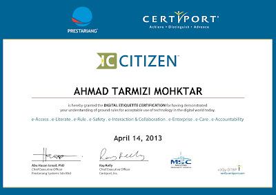 sijil,etika penggunaan internet