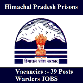 Directorate of Prisons & Correctional Service, Himachal Pradesh, HP, HP Prison, Warder, 12th, freejobalert, Sarkari Naukri, Latest Jobs, hp prison logo