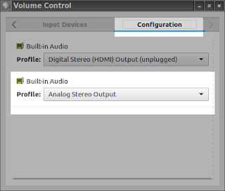 pavucontrol volume control configuration in lubuntu