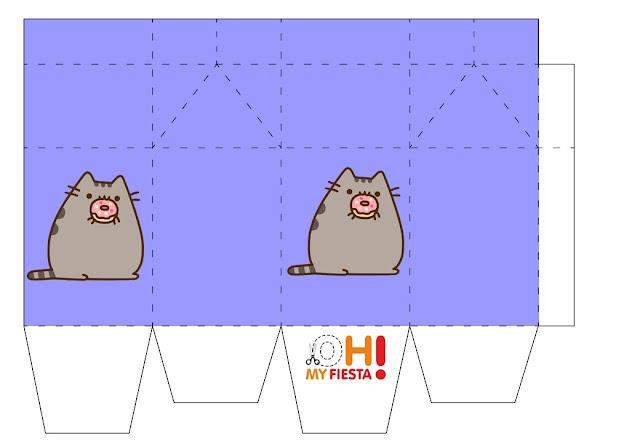 Fiesta de Pusheen: Cajas Tipo Cartón de Leche para imprimir Gratis.