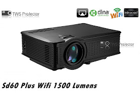 MINI PROJECTOR SD60 PLUS Wifi (ALL IN ONE) 1500 Lumens  3,900 B